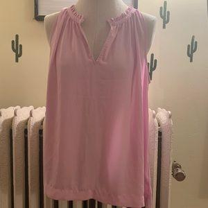 Jcrew pink sleeveless blouse size 14